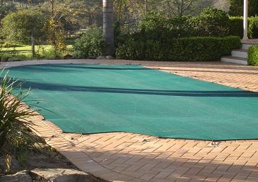 Green mesh pool cover