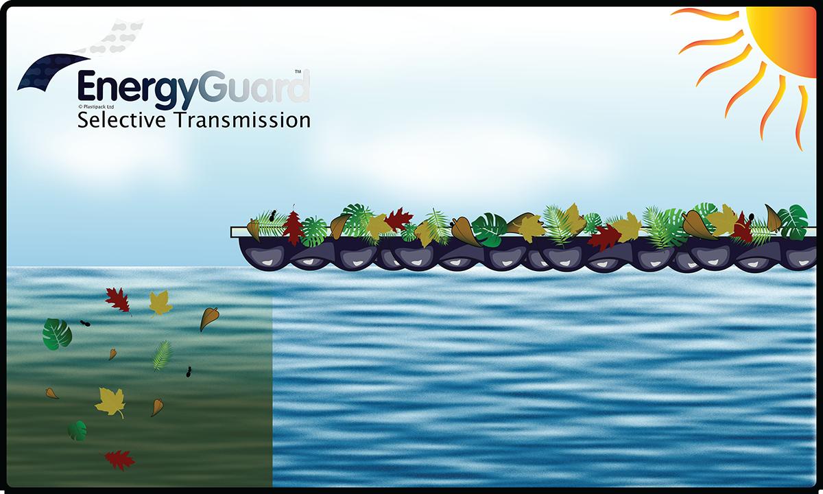 EnergyGuard debris and algae landscape w logo