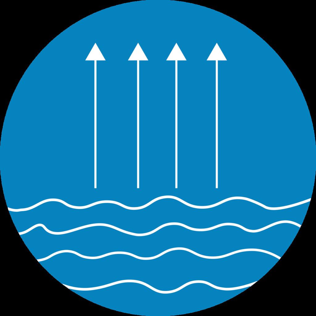 Evaporation geobubble logo colours icon 2