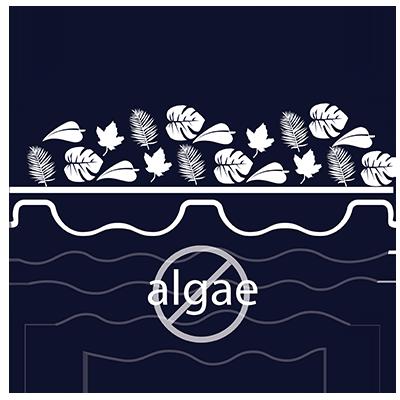 debris and algae prevention icon anergyguard