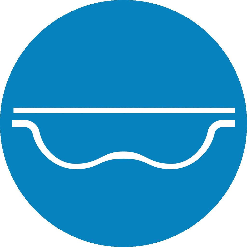 geobubble icon unique shape light blue