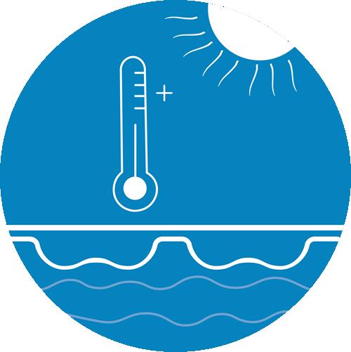geobubble light blue temperature increase icon